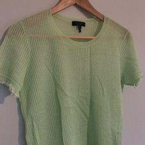 Rag & Bone Lime Green Knit Tee